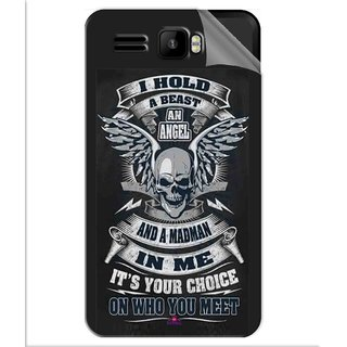 Snooky Printed I hold a best an angel Pvc Vinyl Mobile Skin Sticker For Intex Aqua R3