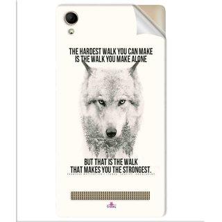 Snooky Printed lone wolf Pvc Vinyl Mobile Skin Sticker For Intex Aqua Power Plus