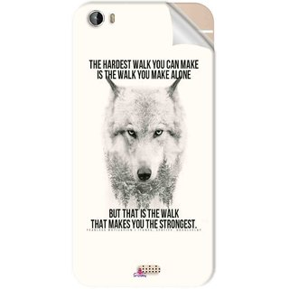 Snooky Printed lone wolf Pvc Vinyl Mobile Skin Sticker For Intex Aqua Turbo 4G