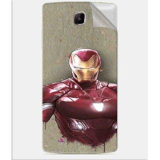 Snooky Printed Iron Man movie Pvc Vinyl Mobile Skin Sticker For Oppo Neo 3