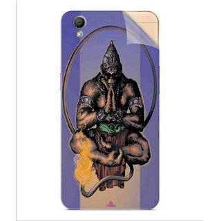 Snooky Printed Lord Hanuman Ji bhagvan bala ji maharaj Pvc Vinyl Mobile Skin Sticker For Oppo A37