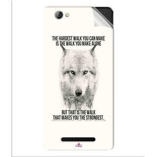 Snooky Printed lone wolf Pvc Vinyl Mobile Skin Sticker For Lava A71