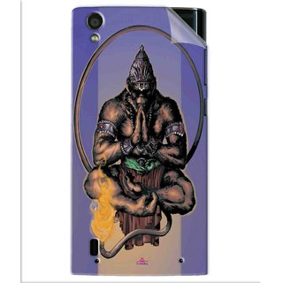 Snooky Printed Lord Hanuman Ji bhagvan bala ji maharaj Pvc Vinyl Mobile Skin Sticker For Vivo Y15