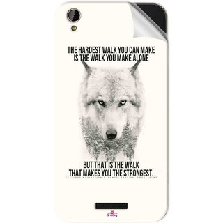 Snooky Printed lone wolf Pvc Vinyl Mobile Skin Sticker For Lava X1 Mini