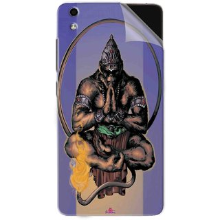 Snooky Printed Lord Hanuman Ji bhagvan bala ji maharaj Pvc Vinyl Mobile Skin Sticker For LYF Water 5