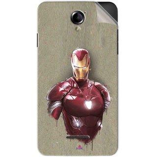 Snooky Printed Iron Man movie Pvc Vinyl Mobile Skin Sticker For Panasonic Eluga L2