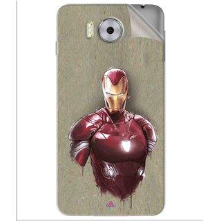 Snooky Printed Iron Man movie Pvc Vinyl Mobile Skin Sticker For Panasonic Eluga Note