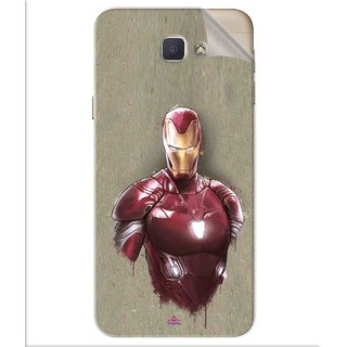 Snooky Printed Iron Man movie Pvc Vinyl Mobile Skin Sticker For Samsung Galaxy J5 Prime