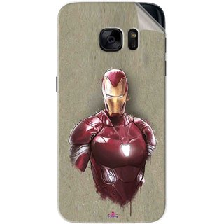 Snooky Printed Iron Man movie Pvc Vinyl Mobile Skin Sticker For Samsung Galaxy S7
