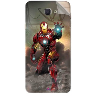 Snooky Printed Iron Man Power Pvc Vinyl Mobile Skin Sticker For Samsung Galaxy J7 Prime