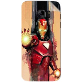 Snooky Printed Iron Man Painting Pvc Vinyl Mobile Skin Sticker For Samsung Galaxy S7