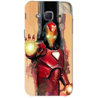 Snooky Printed Iron Man Painting Pvc Vinyl Mobile Skin Sticker For Samsung Galaxy j2