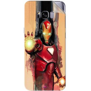 Snooky Printed Iron Man Painting Pvc Vinyl Mobile Skin Sticker For Samsung Galaxy S8