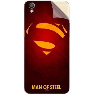 Snooky Printed Man Of Steel Supper Man Pvc Vinyl Mobile Skin Sticker For Oppo R9