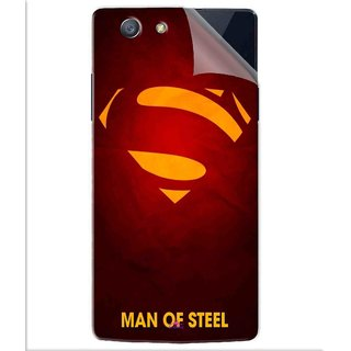 Snooky Printed Man Of Steel Supper Man Pvc Vinyl Mobile Skin Sticker For Oppo A31T
