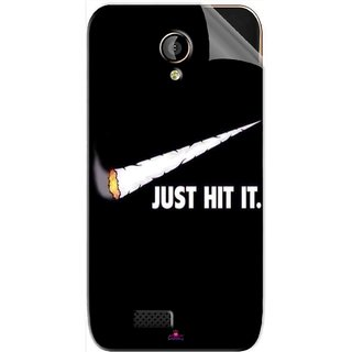 Snooky Printed Just Hit it Pvc Vinyl Mobile Skin Sticker For LYF Flame 6