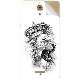 Snooky Printed lion with crown Pvc Vinyl Mobile Skin Sticker For Coolpad Mega 2.5D