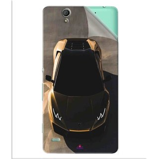 Snooky Printed Lombarghni Pvc Vinyl Mobile Skin Sticker For Sony Xperia C4
