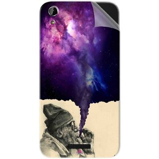 Snooky Printed old man smoking weed Pvc Vinyl Mobile Skin Sticker For Lava X1 Atom