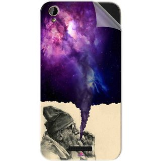 Snooky Printed old man smoking weed Pvc Vinyl Mobile Skin Sticker For Lava X1 Mini