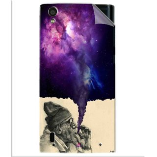 Snooky Printed old man smoking weed Pvc Vinyl Mobile Skin Sticker For Vivo Y15