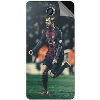 Snooky Printed lionel messi f edits Pvc Vinyl Mobile Skin Sticker For Intex Aqua Life 2