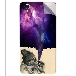 Snooky Printed old man smoking weed Pvc Vinyl Mobile Skin Sticker For Vivo Y31