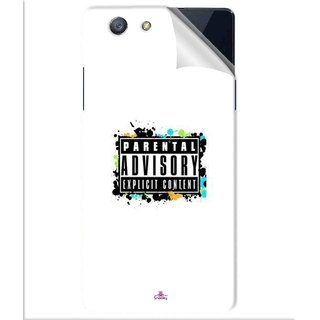 Snooky Printed Parental Advisory Pvc Vinyl Mobile Skin Sticker For Oppo A31T