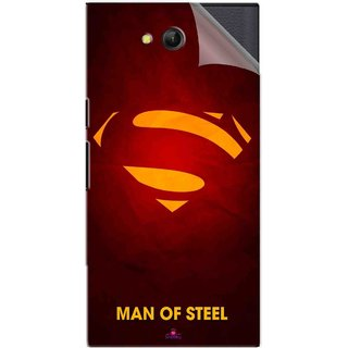 Snooky Printed Man Of Steel Supper Man Pvc Vinyl Mobile Skin Sticker For LYF Wind 4