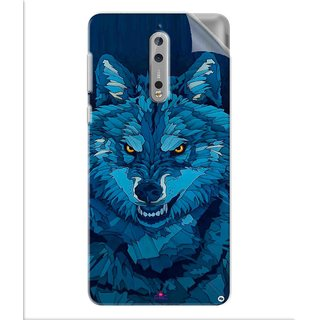 Snooky Printed southside festival wolf Pvc Vinyl Mobile Skin Sticker For Nokia 8