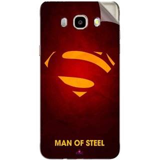 Snooky Printed Man Of Steel Supper Man Pvc Vinyl Mobile Skin Sticker For Samsung Galaxy J7 (2016)