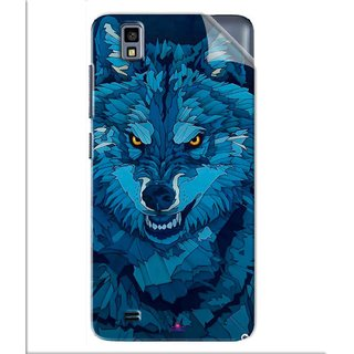 Snooky Printed southside festival wolf Pvc Vinyl Mobile Skin Sticker For Gionee Pioneer P2M