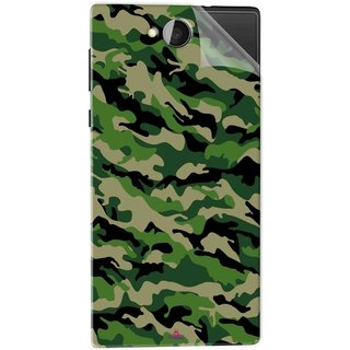 Snooky Printed Military Camouflage Pattern Pvc Vinyl Mobile Skin Sticker For Xolo Prime