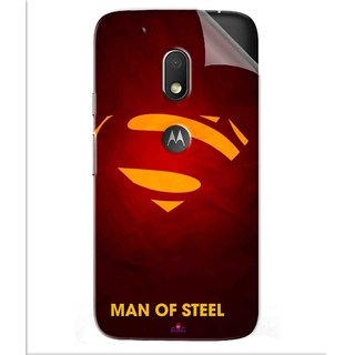 Snooky Printed Man Of Steel Supper Man Pvc Vinyl Mobile Skin Sticker For Motorola Moto G4 Play