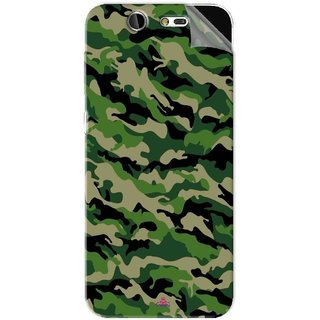 Snooky Printed Military Camouflage Pattern Pvc Vinyl Mobile Skin Sticker For LYF Earth 2