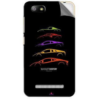 Snooky Printed silhouette history car Pvc Vinyl Mobile Skin Sticker For Lava Flair P3