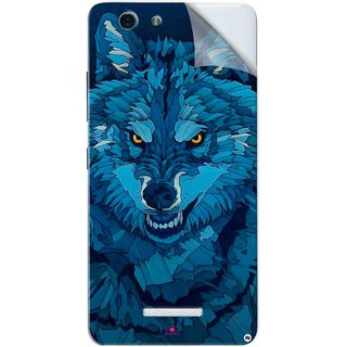 Snooky Printed southside festival wolf Pvc Vinyl Mobile Skin Sticker For Gionee S Plus