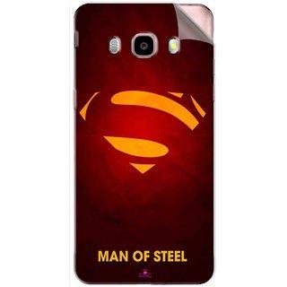 Snooky Printed Man Of Steel Supper Man Pvc Vinyl Mobile Skin Sticker For Samsung Galaxy J5 (2016)