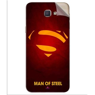 Snooky Printed Man Of Steel Supper Man Pvc Vinyl Mobile Skin Sticker For Samsung Galaxy J5 Prime