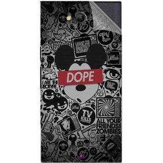 Snooky Printed Mickey Dope Pvc Vinyl Mobile Skin Sticker For LYF Wind 4