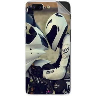 Snooky Printed motorcycle lover Pvc Vinyl Mobile Skin Sticker For OnePlus 5