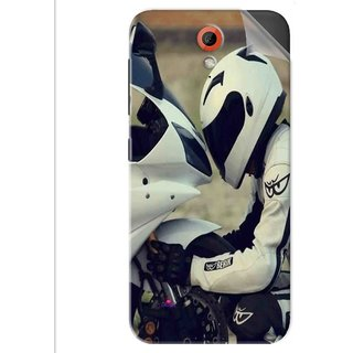 Snooky Printed motorcycle lover Pvc Vinyl Mobile Skin Sticker For Htc Desire 620