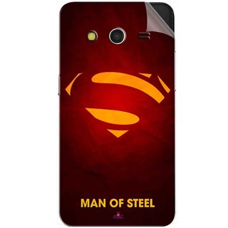 Snooky Printed Man Of Steel Supper Man Pvc Vinyl Mobile Skin Sticker For Samsung Galaxy Core 2
