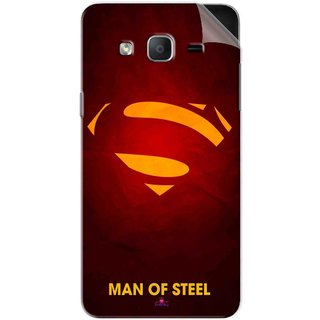Snooky Printed Man Of Steel Supper Man Pvc Vinyl Mobile Skin Sticker For Samsung Galaxy On7 Pro