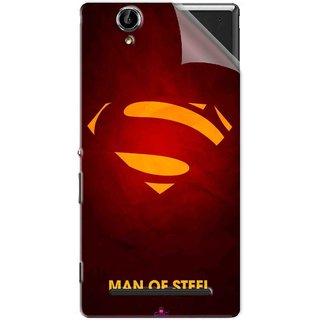 Snooky Printed Man Of Steel Supper Man Pvc Vinyl Mobile Skin Sticker For Sony Xperia T2 Ultra