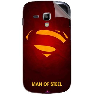 Snooky Printed Man Of Steel Supper Man Pvc Vinyl Mobile Skin Sticker For Samsung Galaxy S Duos S7562