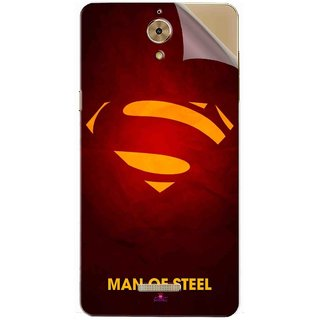 Snooky Printed Man Of Steel Supper Man Pvc Vinyl Mobile Skin Sticker For Coolpad Mega 2.5D