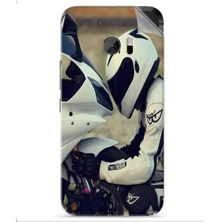 Snooky Printed motorcycle lover Pvc Vinyl Mobile Skin Sticker For HTC One M10