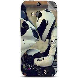 Snooky Printed motorcycle lover Pvc Vinyl Mobile Skin Sticker For Htc One M8