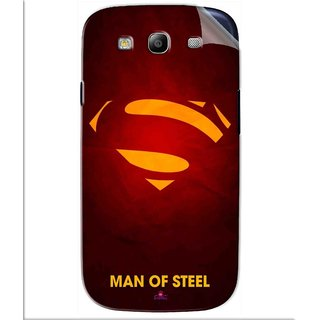 Snooky Printed Man Of Steel Supper Man Pvc Vinyl Mobile Skin Sticker For Samsung Galaxy S3